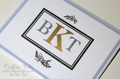 Tiffany and Brian Monogram Card
