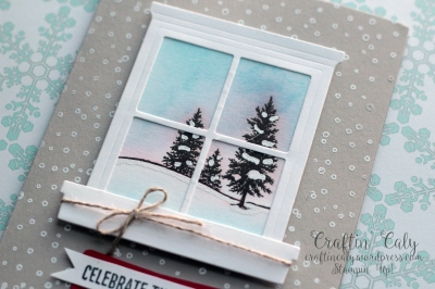 Winter Scene Window Card 1