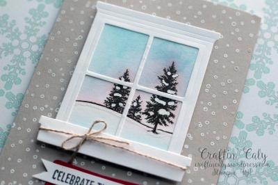 Winter Scene Window Card 1