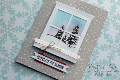 Winter Scene Window Card 2