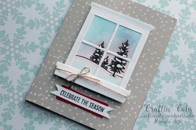 Winter Scene Window Card 2