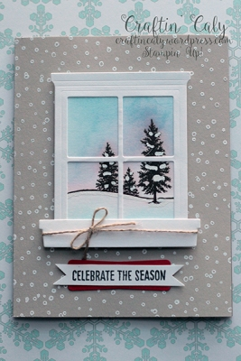 Winter Scene Window Card 3