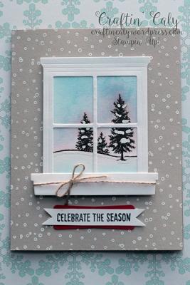 Winter Scene Window Card 3