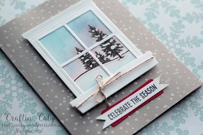 Winter Scene Window Card