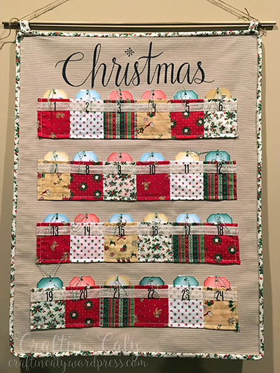 Self Made Christmas Calendar : Diy fabric advent calendar craftin caly