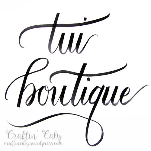 Tui Boutique Lettering