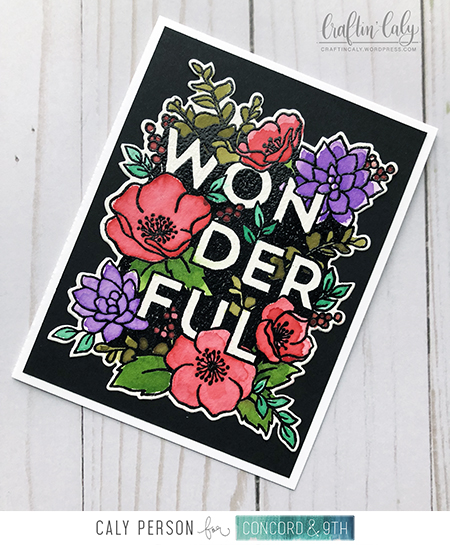 Blog Wonderful Floral - Distress Watercolor over Black
