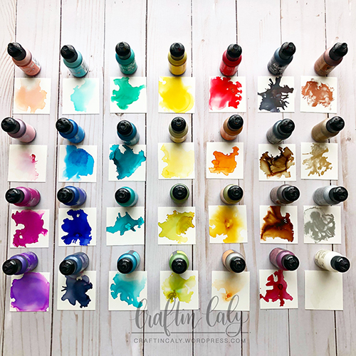 Alcohol Ink Swatches
