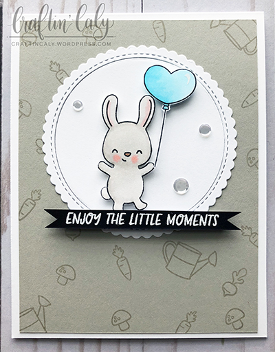 Enjoy the Little Moments - Balloon Bunny