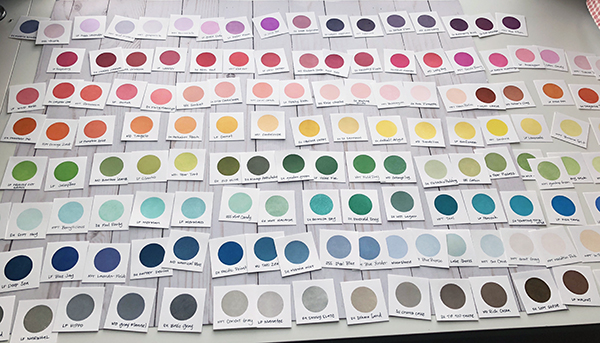 ink swatches before Altenew and CP