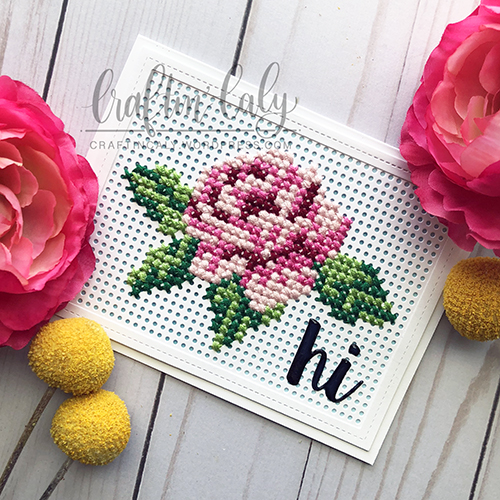 Cross Stitched Rose 1