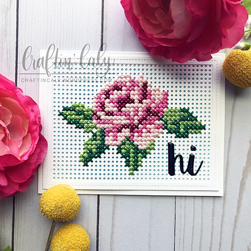 Cross Stitched Rose