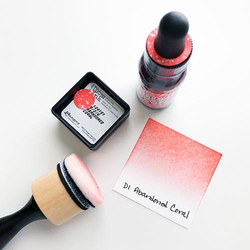 Distress Ink Swatching Sample