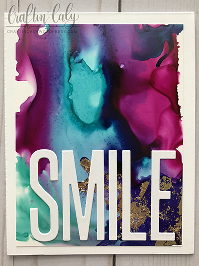 Smile Alcohol Ink