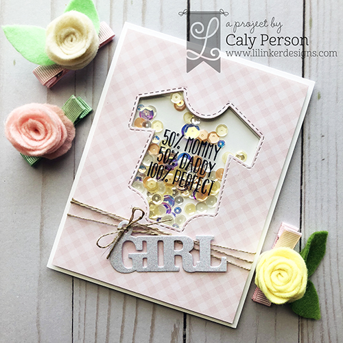 Caly - Little One, Baby Word Tags, Baby Onsie Shaker_angled WM