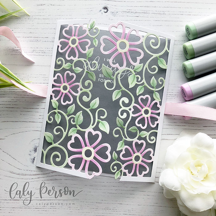 Floral Lattice Trifold 1