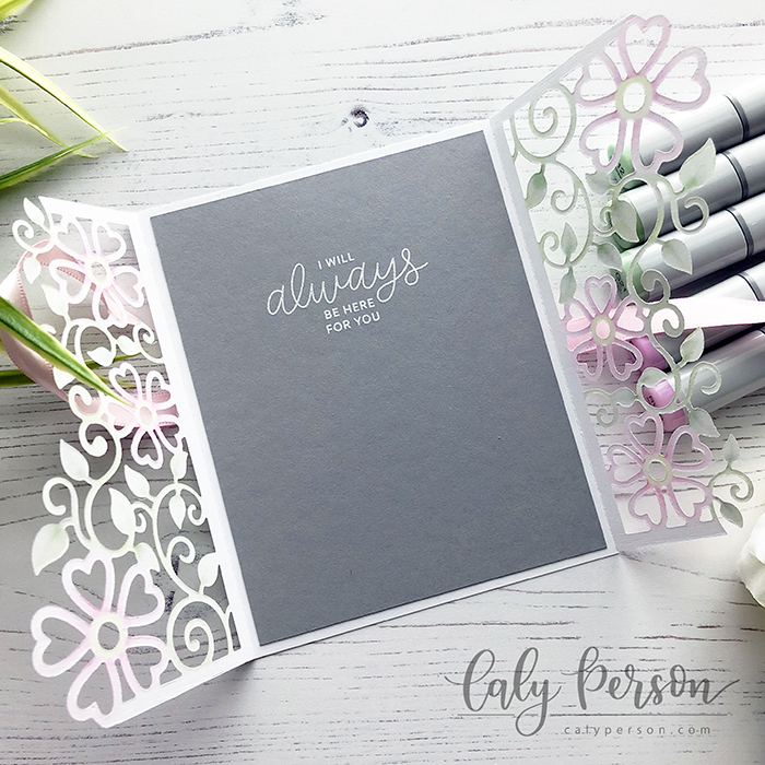 Floral Lattice Trifold 2