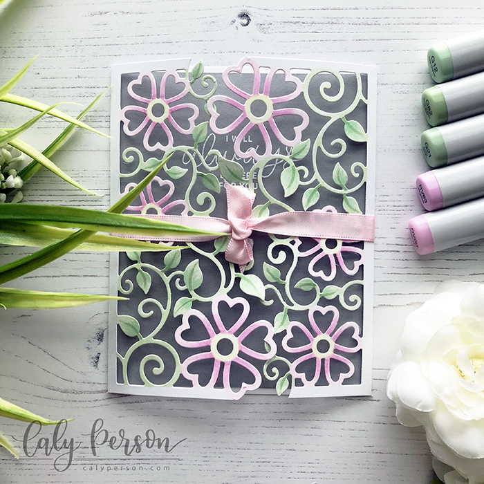 Floral Lattice Trifold