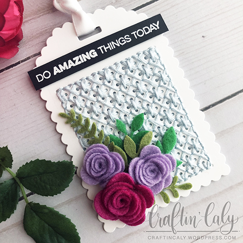 MFT - Stitched Felt Floral Tag