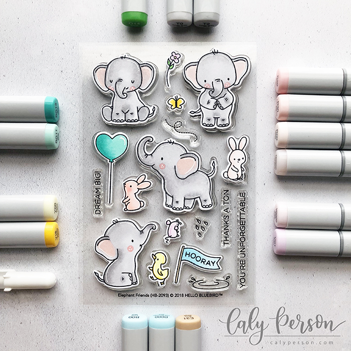 Elephant Friends Coloring