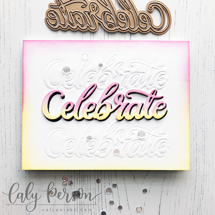 SP Words Etched - Celebrate