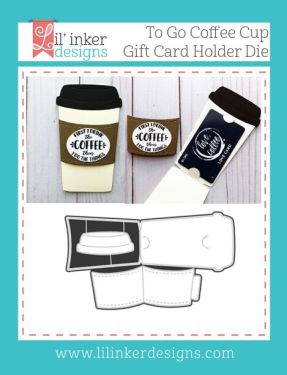 To Go Coffee Cup Gift Card Holder