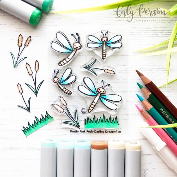 Darling Dragonflies Coloring