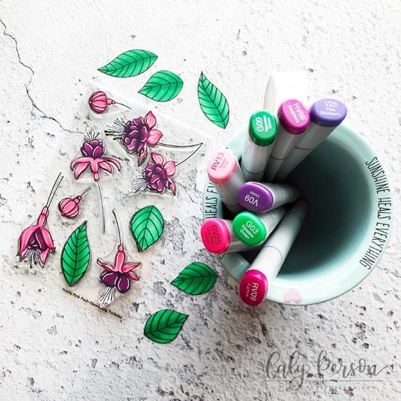 Flourishing Fushcias Copics