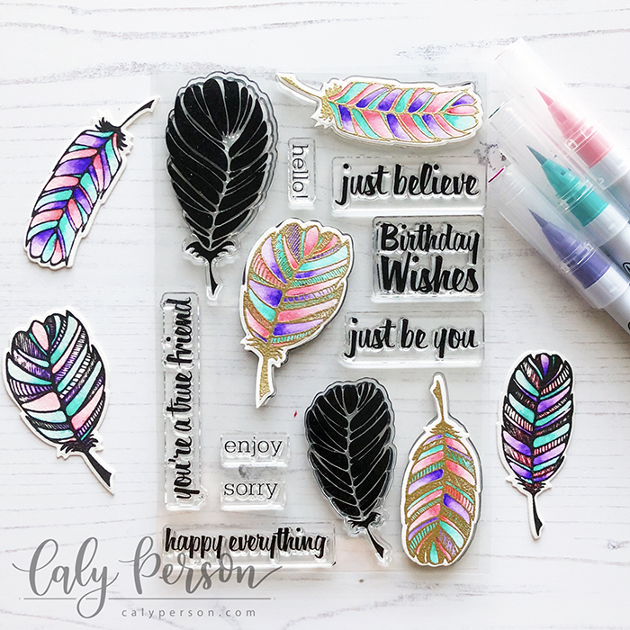 LID Fancy Feathers Coloring