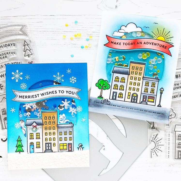 PFS Cityscape cards - square