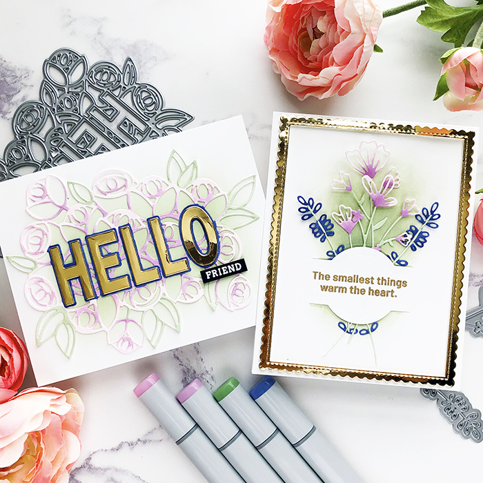 PFS Hello w a Bouquet and Dainty Blossoms Feature Image