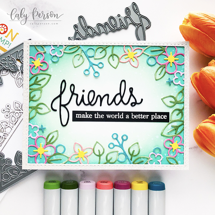 Simon Says Stamp Outline Floral Frame Diecember Release Caly