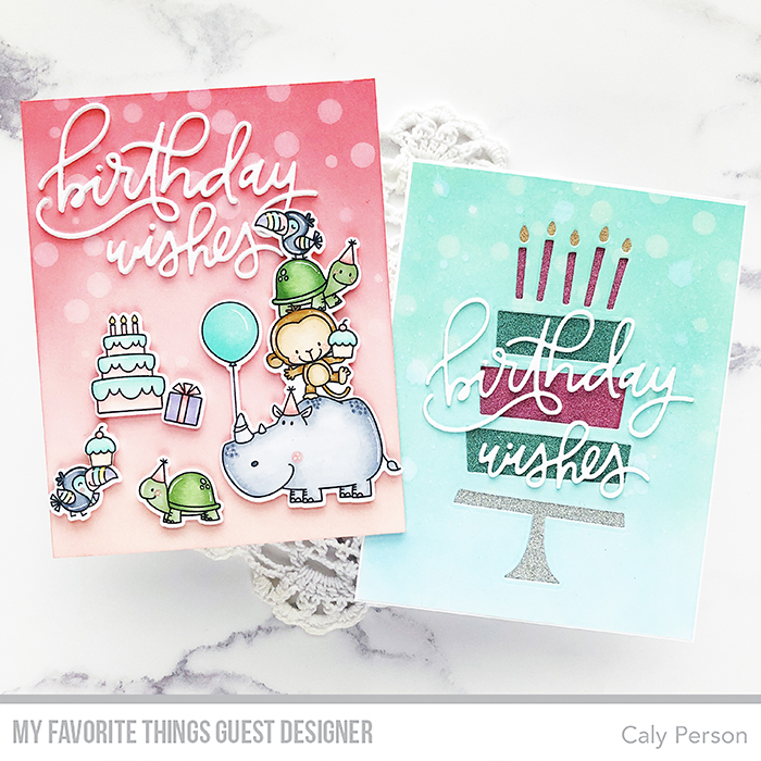 The First Card Using Birth Yay And Birthday Wishes Sets I Love Stacked Critters