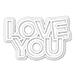 SSS CZ Chunky Love You
