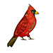 TH SSS Die-cember Feathered Cardinal