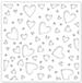 SSS Tumbling Hearts Stencil