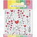WF Heart Blooms Stencil Trio